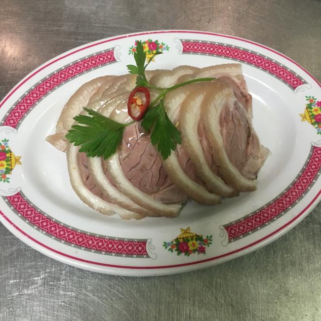 熏蹄小吃Geroosterd varkenspoot