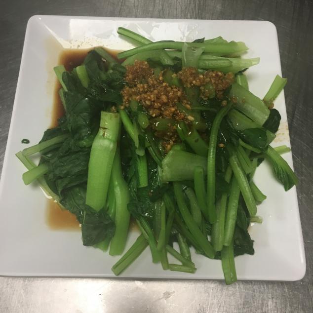 灼时蔬菜蒜蓉 Chinees groenten met knoflook