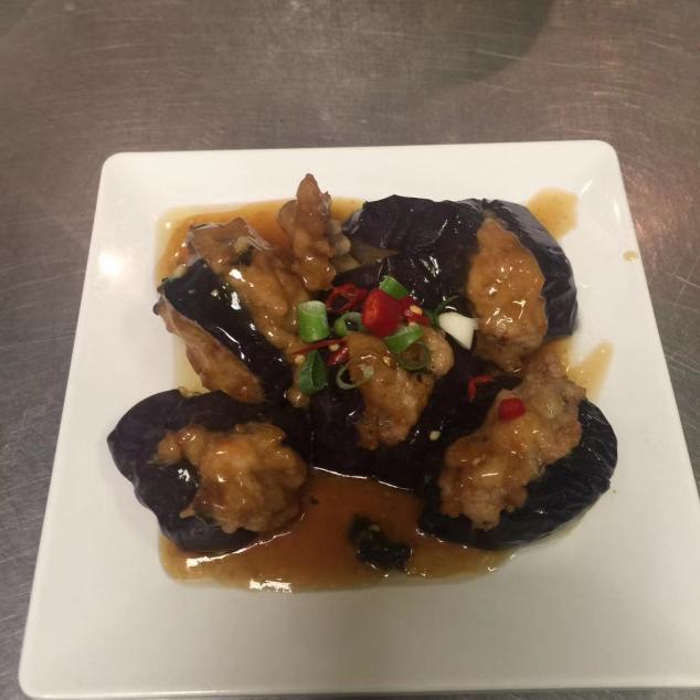 煎壤茄子Gevulde aubergine