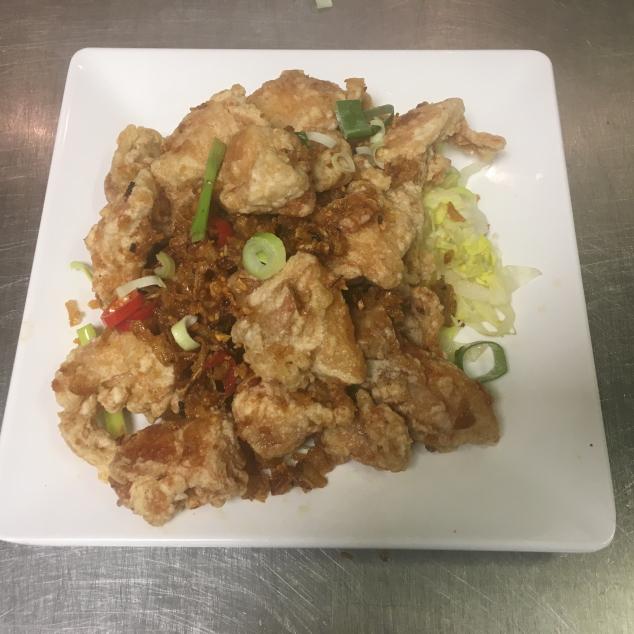 小椒盐鸡Pittige en gezouten kip