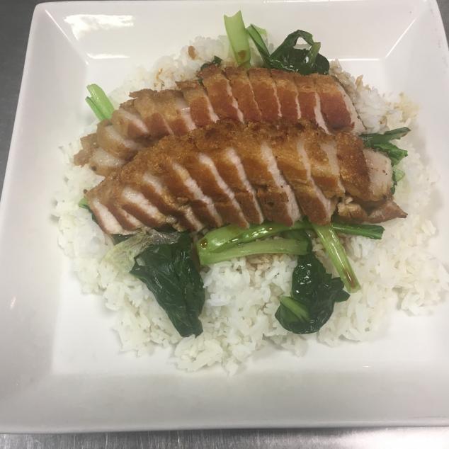 火腩饭Witte rijst  met spek
