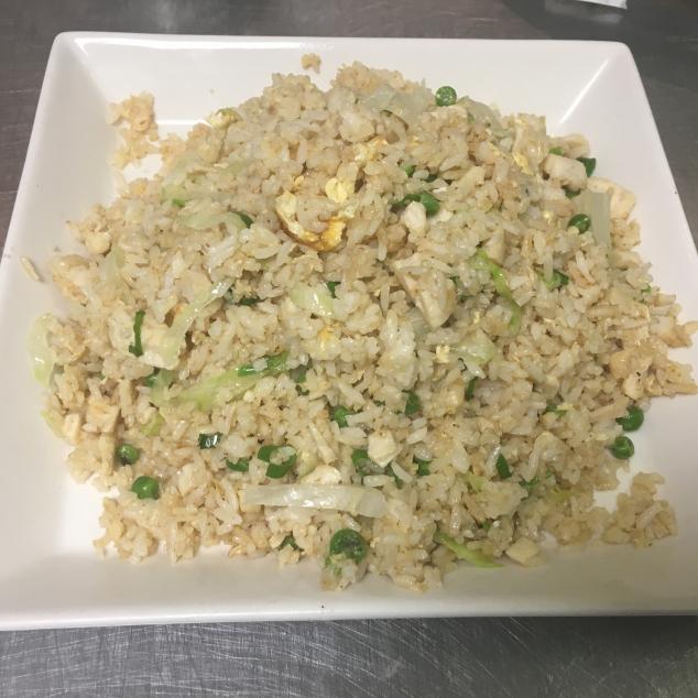 咸鱼鸡粒炒饭Nasi met kip en gezouten vis
