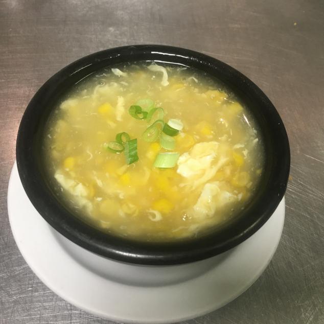 小蟹肉粟米湯Kleine maïssoep met krab