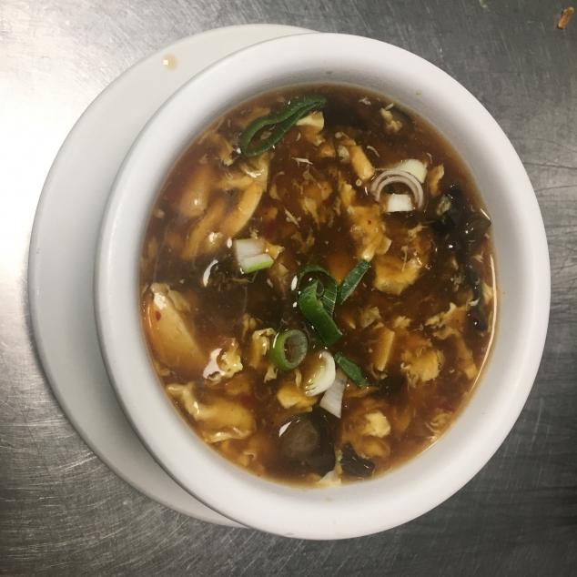 酸辣湯Zuur pikante soep