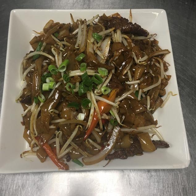 干炒牛河 Rundvlees met  rijststick