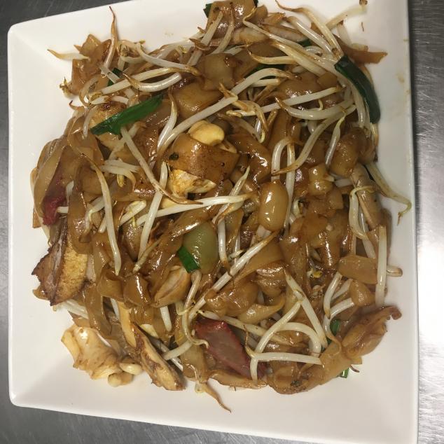 干炒三丝炒河3 soort vlees met rijststick droog