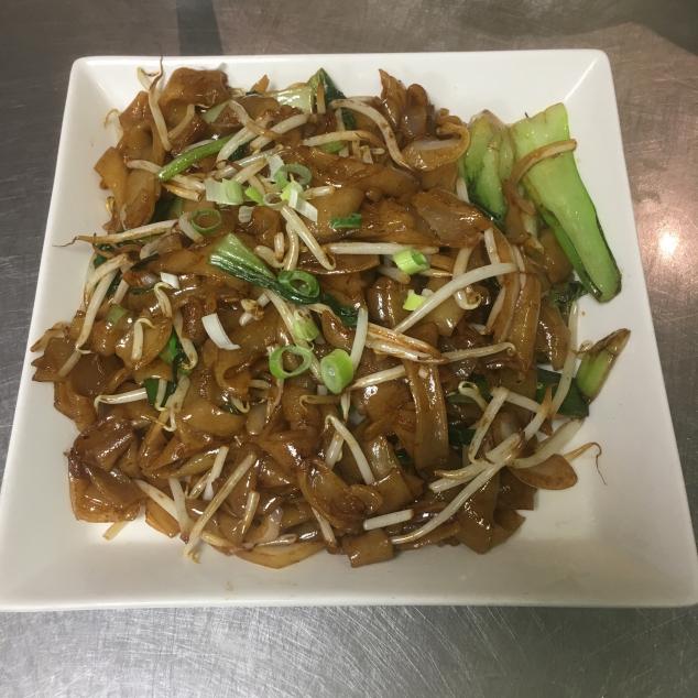 干炒菜远牛河 Rundvlees  en groente met  rijststick droog