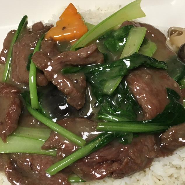 湿炒菜远牛河Rundvlees en groente met  rijststick nat gebakken