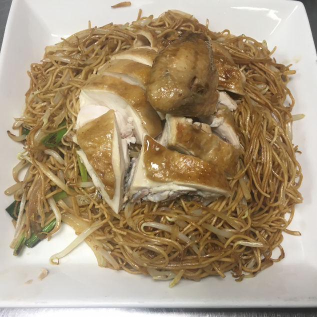 干炒油鸡面Soja kip met bami
