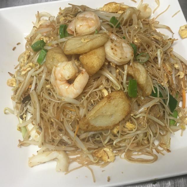 干炒海鲜面Zeevruchten met bami droog