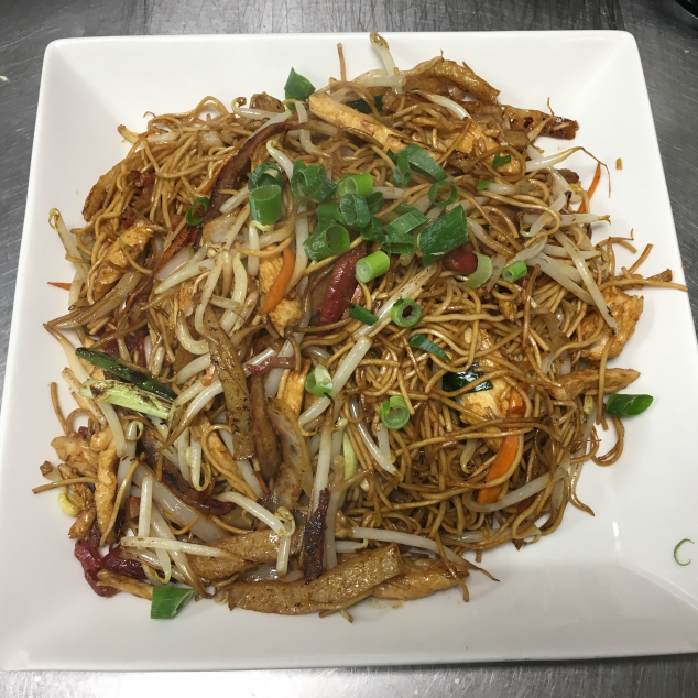 干炒三丝炒米粉3 soort vlees met mihoen droog