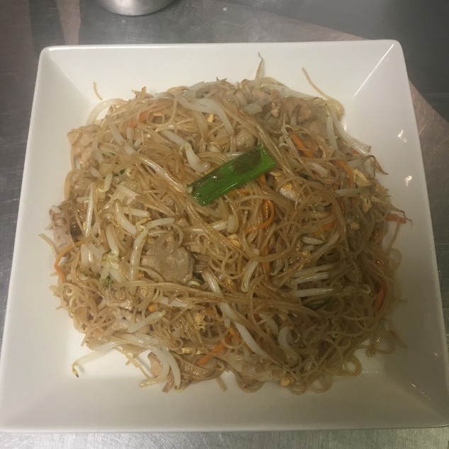 肉丝炒米粉Varkensvlees met mihoen