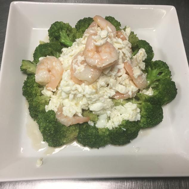 兰花芙蓉虾球Broccoli met eiwit en garnalen