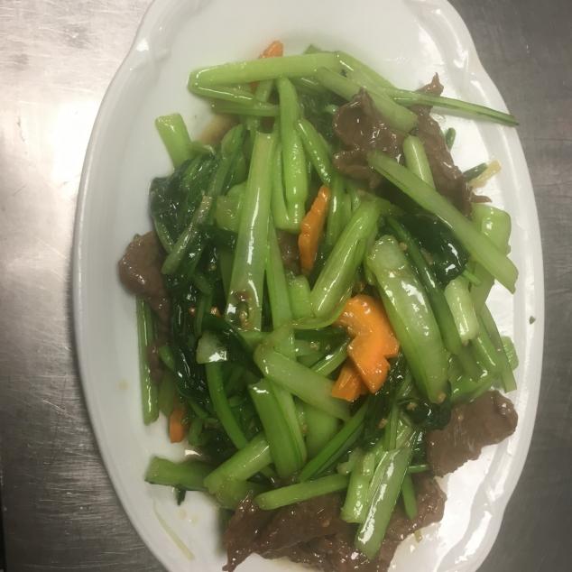菜心牛Choi sam met rundvlees