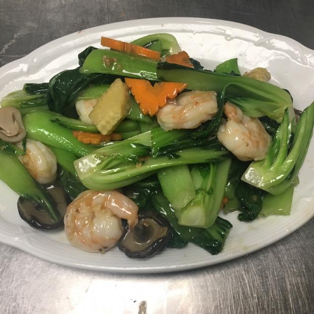 白菜虾Pak-choi met garnalen