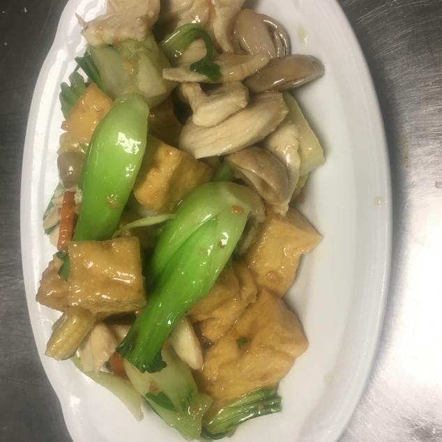 豆腐白菜鸡Tofu met pak-choi en kip