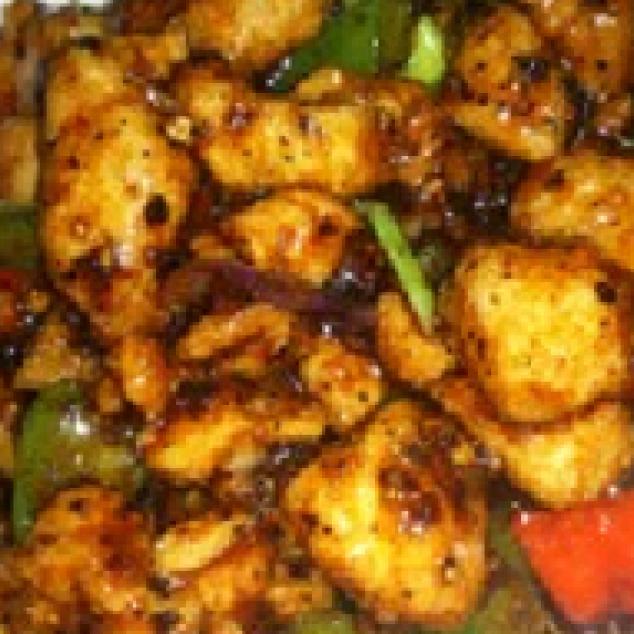 黑椒鸡Kip met zwarte peper saus