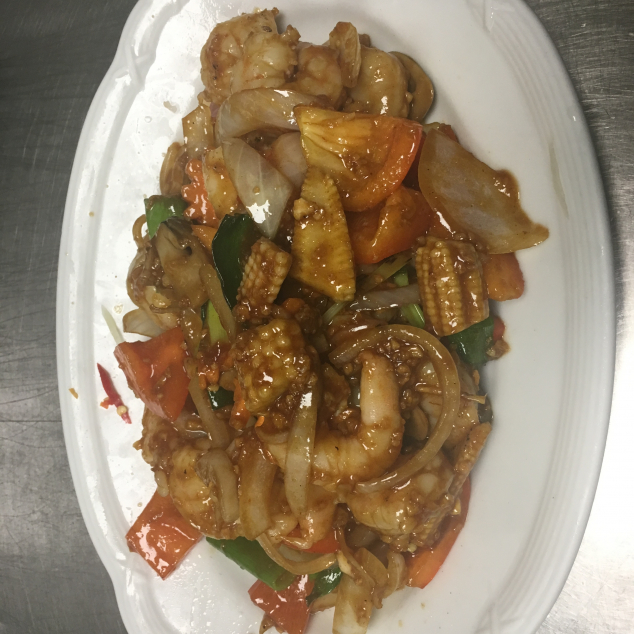蒜蓉鸡Kip met knoflook saus