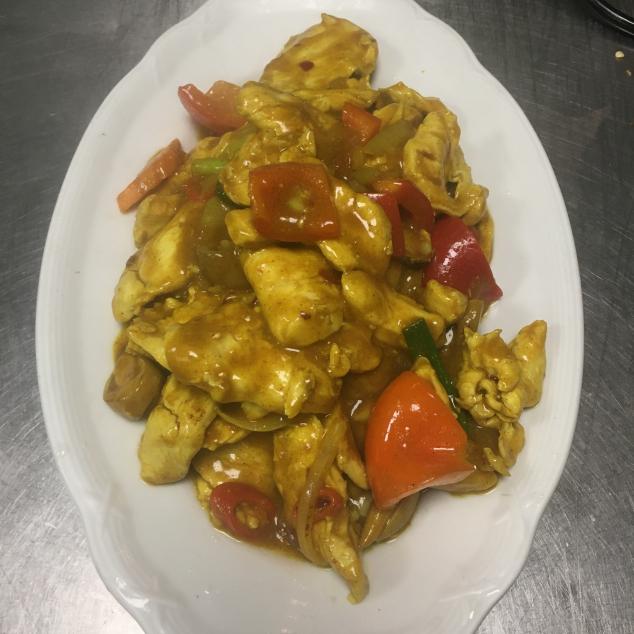 咖喱猪Varkensvlees met kerrie saus
