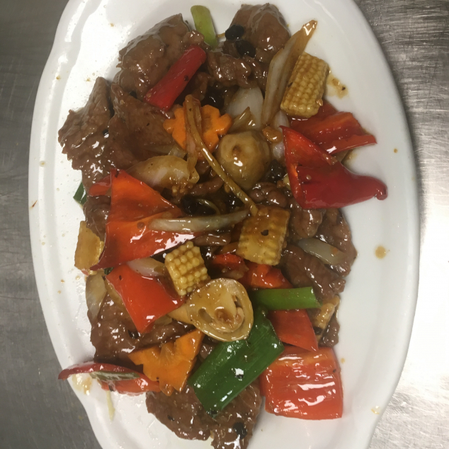 鼓汁牛Rundvlees met zwarte bonen saus
