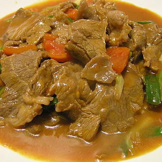 咖喱牛Rundvlees met kerrie saus