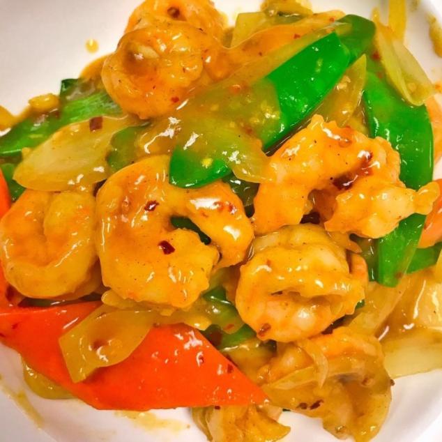 咖喱虾Garnalen met kerrie saus