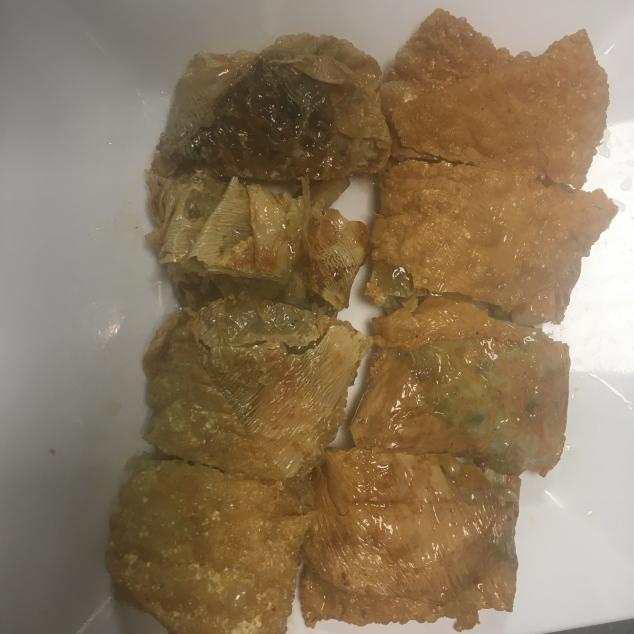 腐皮卷 (斋)Bamboescheuten met groenten
