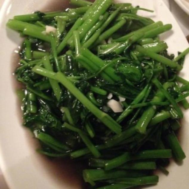 空心菜蚝油 ong choi met oestersaus