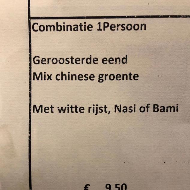 Combinatie 1 persoon met witte rijst